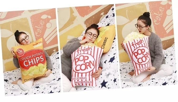 零食抱枕可乐靠垫创意爆米花公仔毛绒玩具 薯条娃娃儿童生日礼物