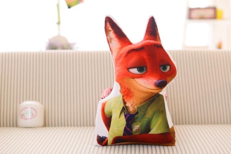 《疯狂动物城》创意形状抱枕兔子朱迪狐狸尼克
