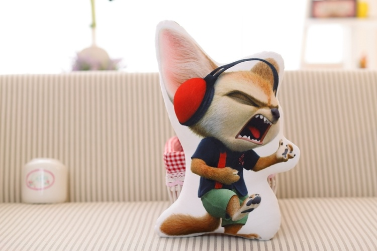 【《疯狂动物城》创意形状抱枕兔子朱迪狐狸尼克】