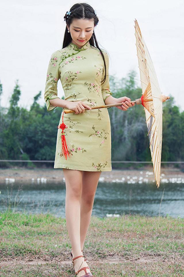 上海民国风景旗袍美女