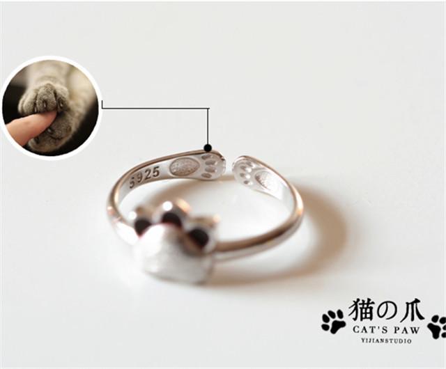 形状/图案:小熊/小猪/小动物 材质:纯银 尺码说明 戒指内直径1.