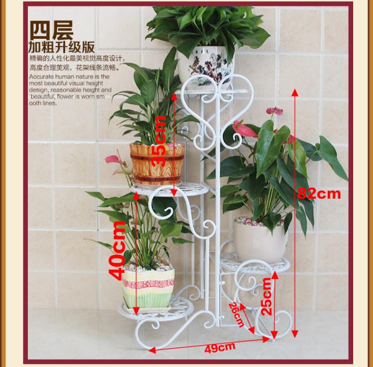 【欧式阳台客厅室内绿萝吊兰花架子花架铁艺多层落地