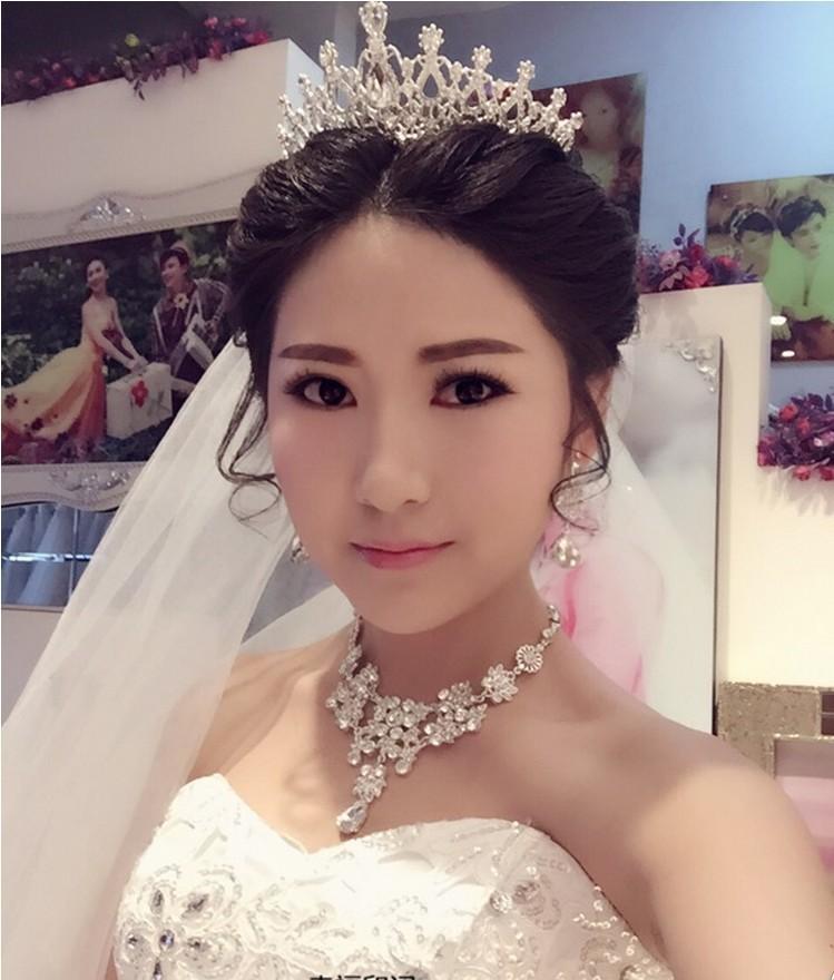 巴洛克女王大皇冠水钻发饰饰品欧式新娘结婚公主头饰婚纱高档配饰