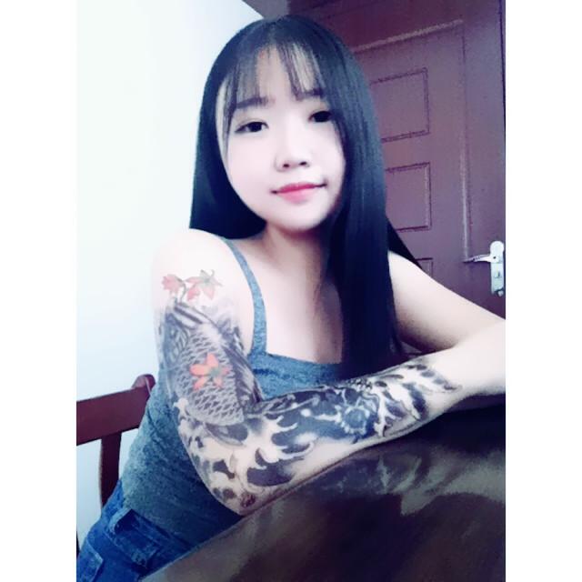 【大花臂纹身贴 全臂 整臂