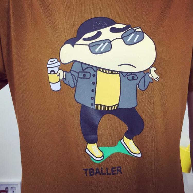 韩国新款卡通半袖上衣女 蜡笔小新印花短袖t恤