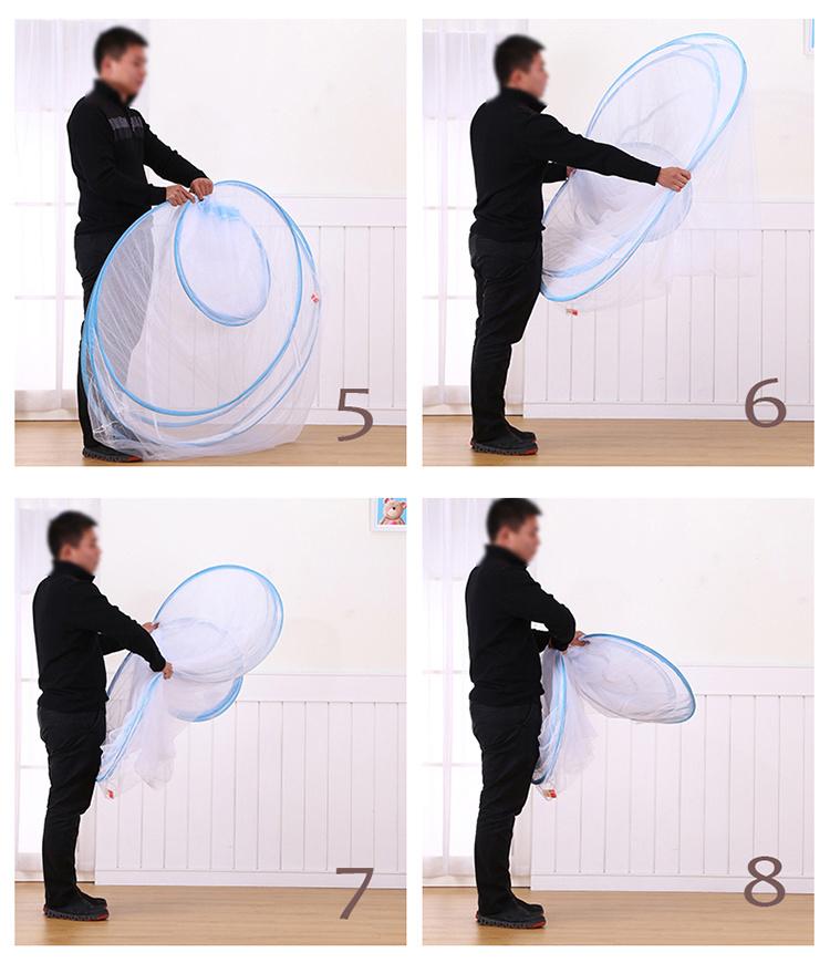 钢丝蚊帐收纳方法图解