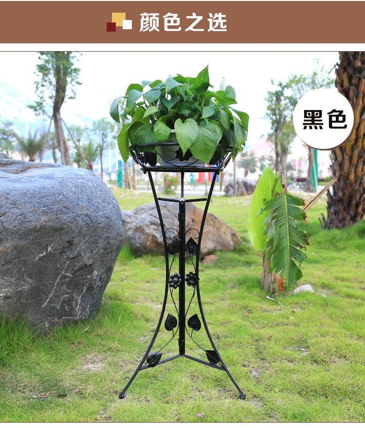 【欧式落地式客厅花盆架阳台植物架】-null-架类