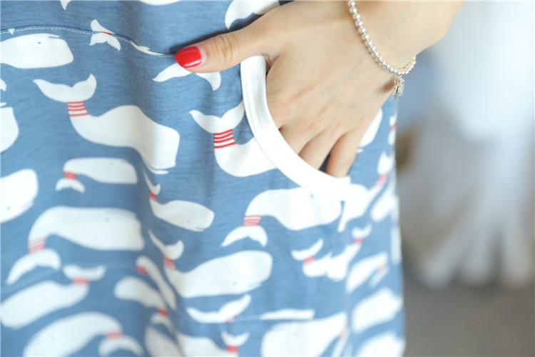 【卡通可爱海豚睡裙】-内衣-女士内衣/家居服