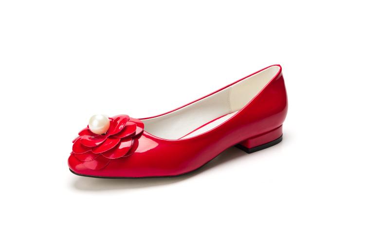【欧美复古花朵小红鞋】-鞋子-女鞋