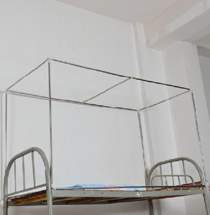 【大学生宿舍上下铺蚊帐床帘不锈钢支架】-家居-床