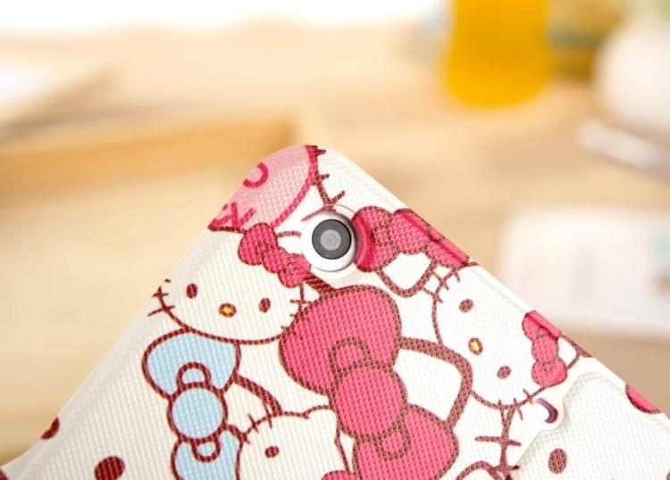 【苹果ipadmini1/2/3/4凯蒂猫卡通仿皮保护套】-null