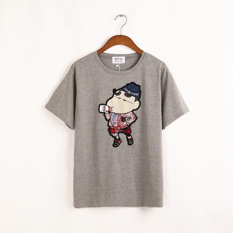 【卡通图案蜡笔小新圆领短袖t恤】-衣服-服饰鞋包