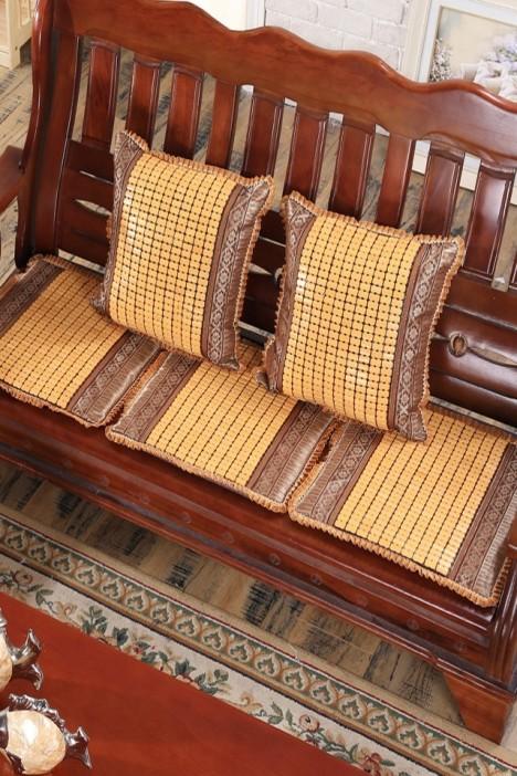 冰丝席沙发垫,麻将块沙发垫,竹席沙发凉垫,夏季实木沙发垫