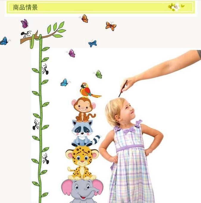 【小动物快乐游戏 卡通动漫儿童身高贴】-无类目-贴
