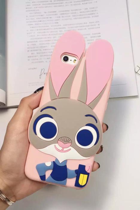 【疯狂动物城iphone6/6s手机壳6p软硅胶全包兔子手机