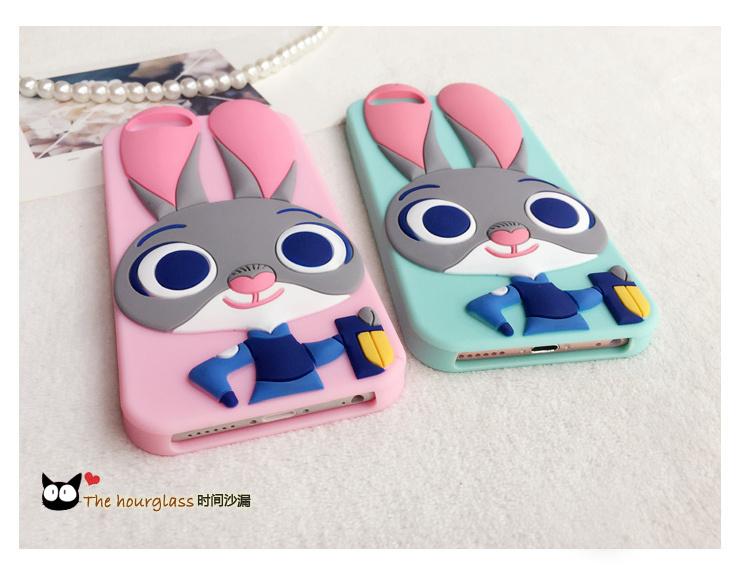 【疯狂动物城朱迪小兔硅胶手机壳】-配饰-3c数码配件