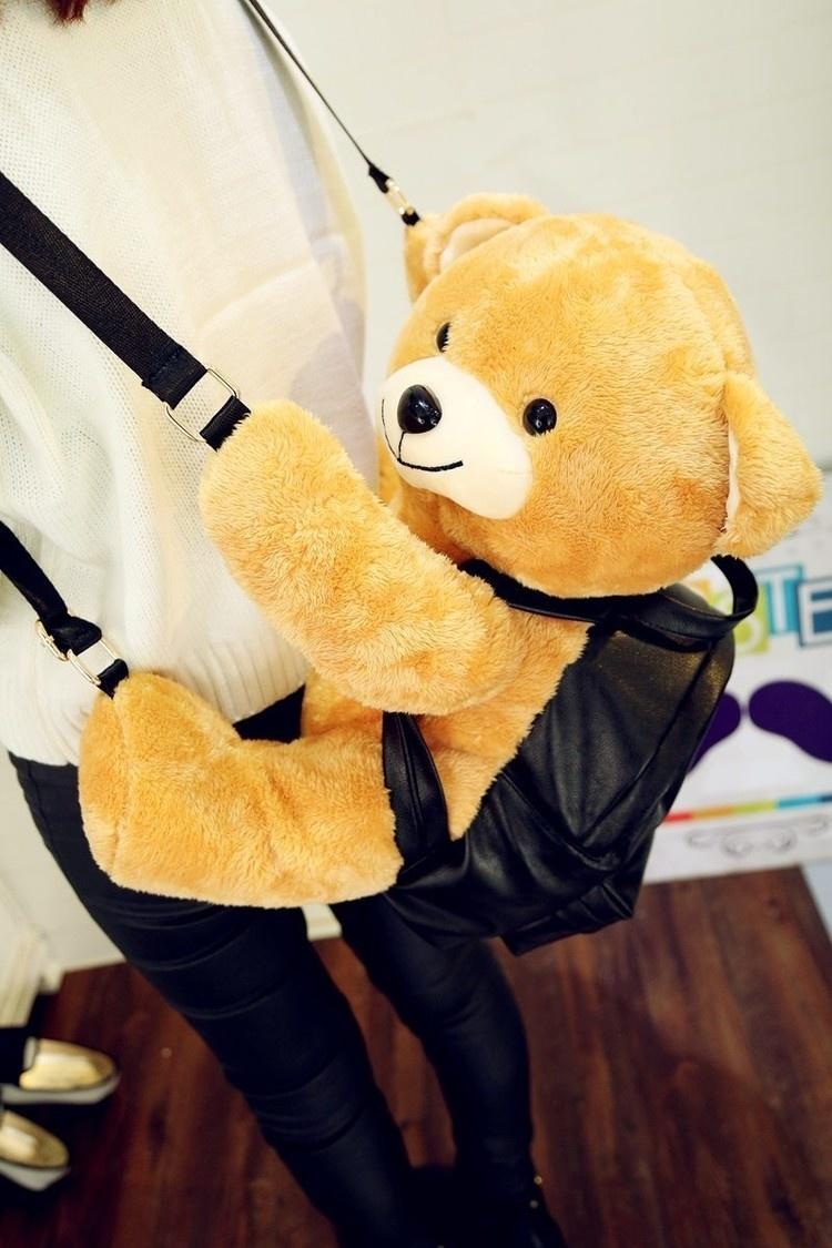 【初色其他】莫斯奇诺同款超萌可爱毛绒小熊双肩包