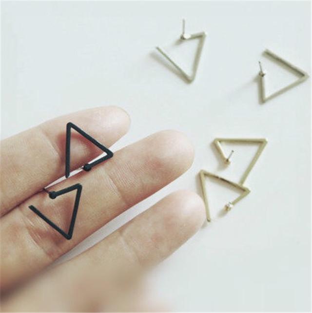 【欧美极简开口三角形耳钉】-null-配饰