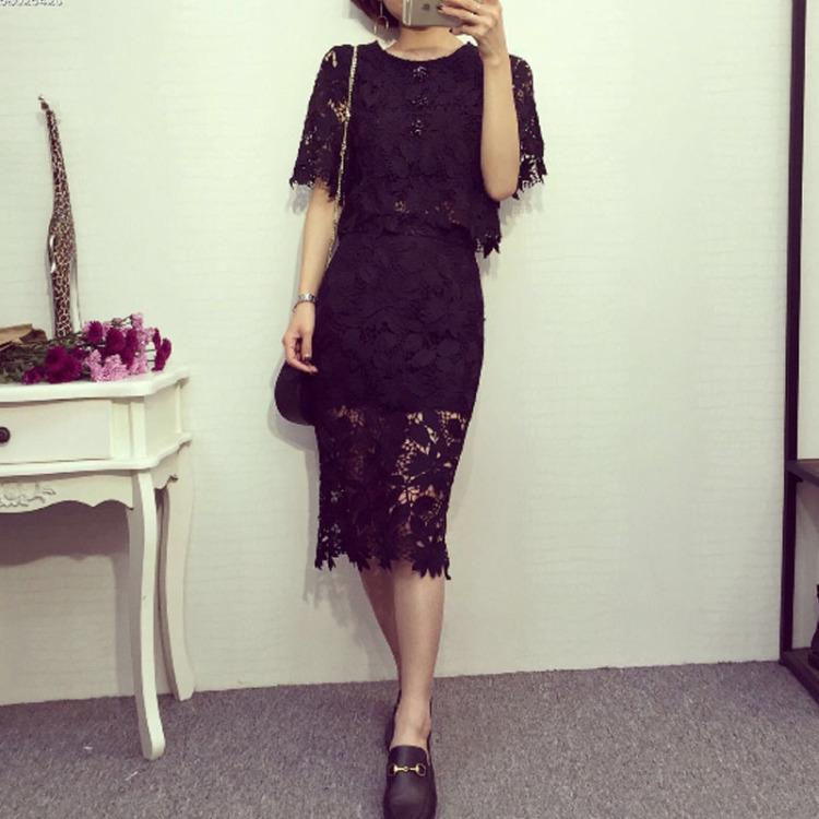 蕾丝包裙短裙