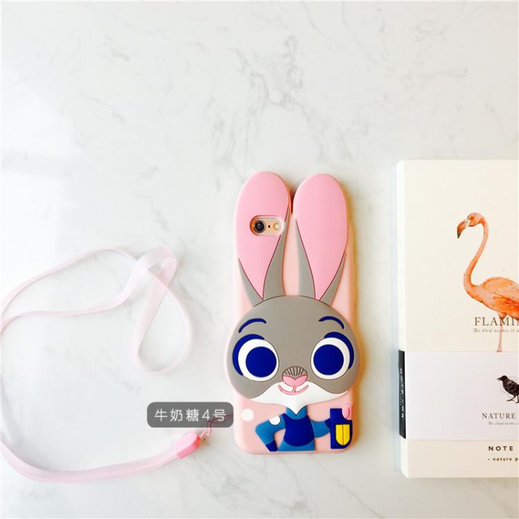 疯狂动物城兔朱迪iphone6软硅胶全包兔子4.7手机壳
