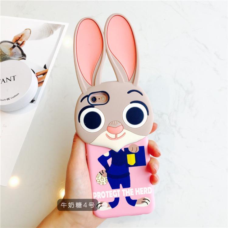 【iphone6疯狂动物城手机壳6plus朱迪兔子苹果手机壳