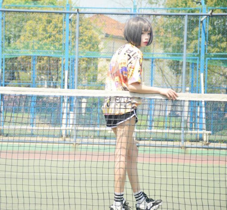 【权志龙gd同款笑脸表情数码印花短袖t恤】-衣服