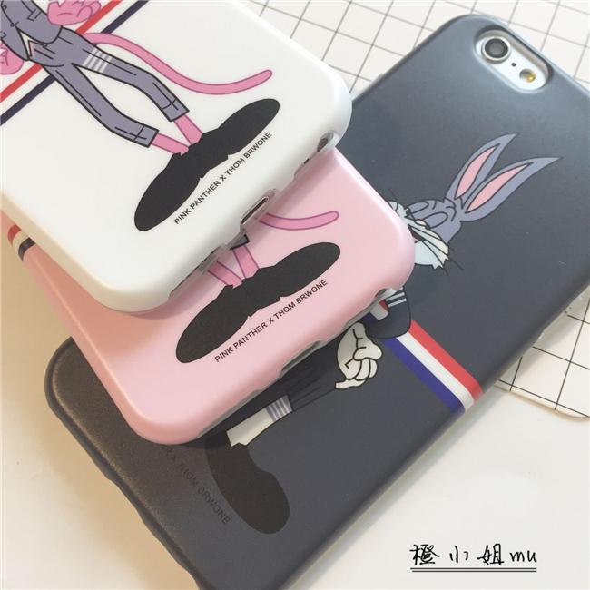 tb红白蓝顽皮豹苹果6s plus手机壳