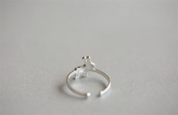 圣诞麋鹿可爱戒指
