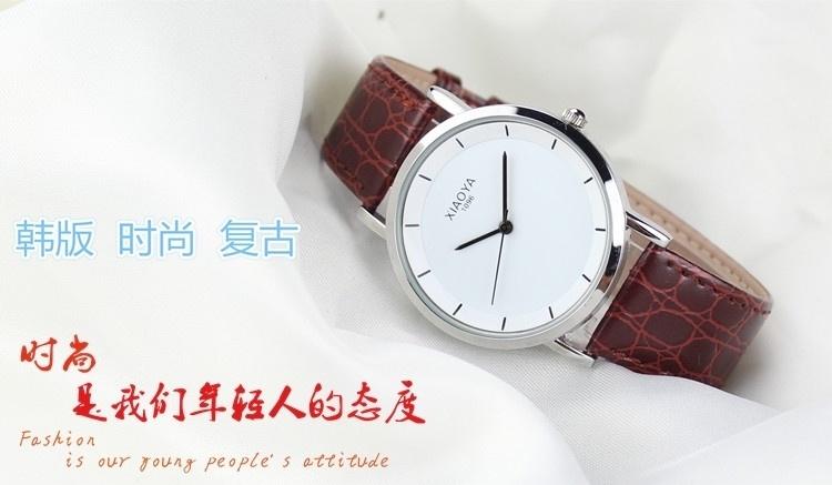 【筱雅其他牌韩版女表时尚皮带手表男女士学生男表表