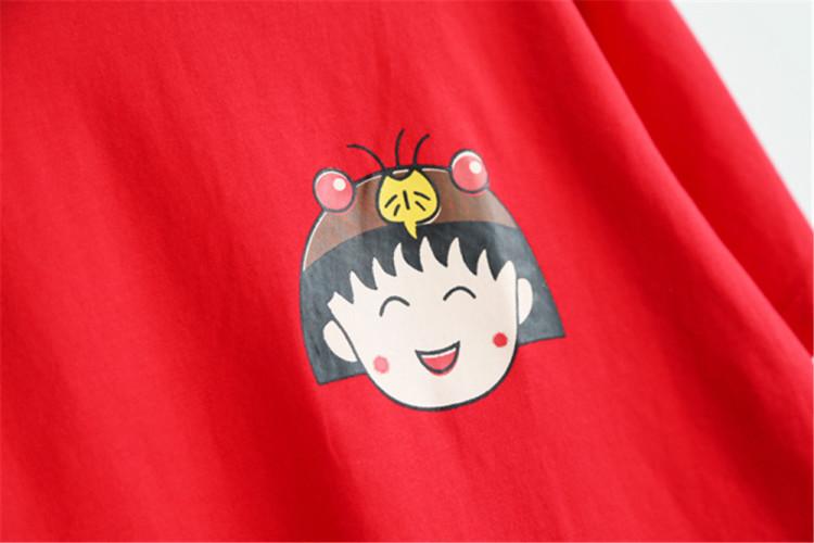 【韩版女装夏季新款大码印花樱桃小丸子可爱时尚短袖
