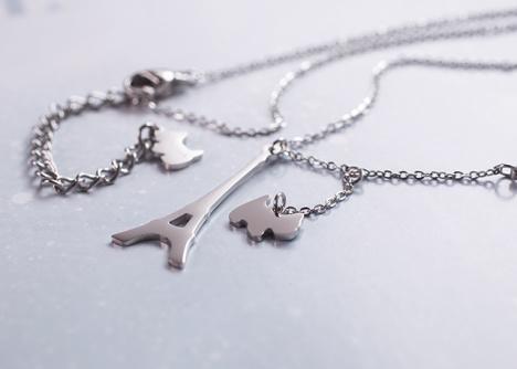 [法国agatha]埃菲尔铁塔钥匙项链