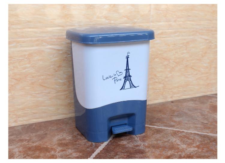 【静音创意家用垃圾桶脚踏式厨房客厅卫生间垃圾桶带