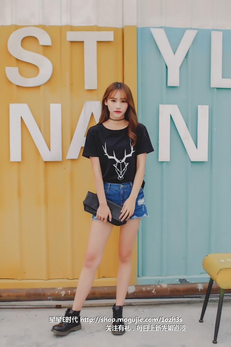 2016韩版夏季新款学生休闲女打底衫潮卡通几何小鹿百搭t恤潮