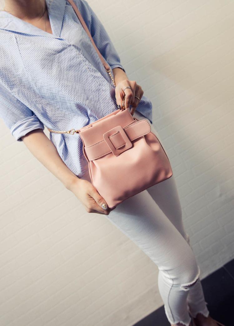 【包包2016欧美时尚腰带水桶包新款潮流女包单肩包斜