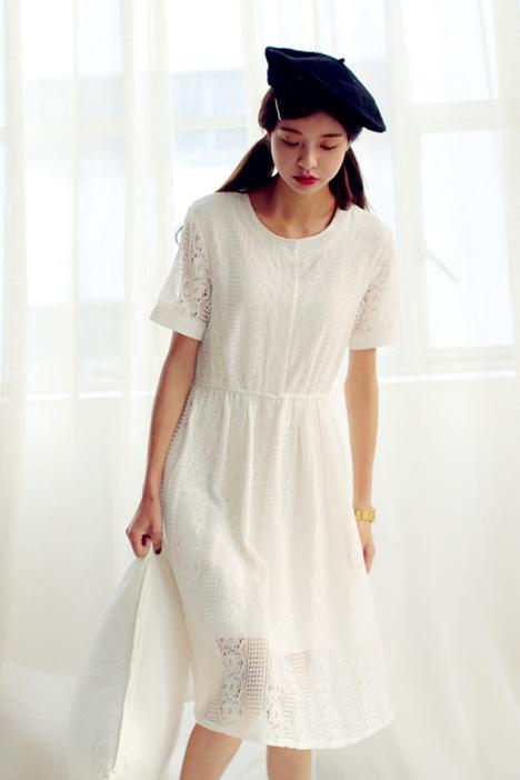 宽松,长裙,连衣裙,蕾丝裙,裙子