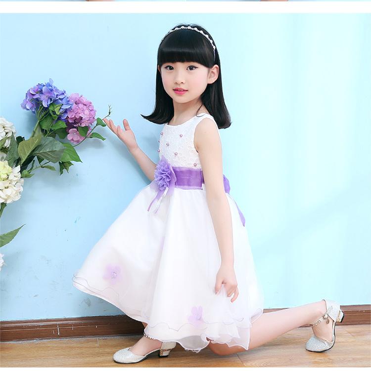 【女童花朵腰带网纱背心裙】-母婴-连衣裙