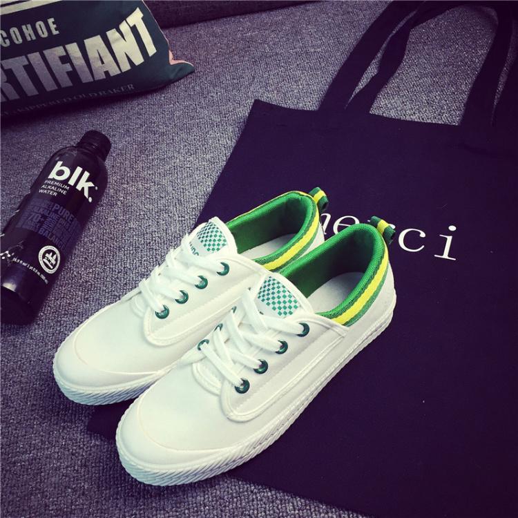 1代!王菲同款小绿小白鞋 清新舒适百搭休闲帆布鞋