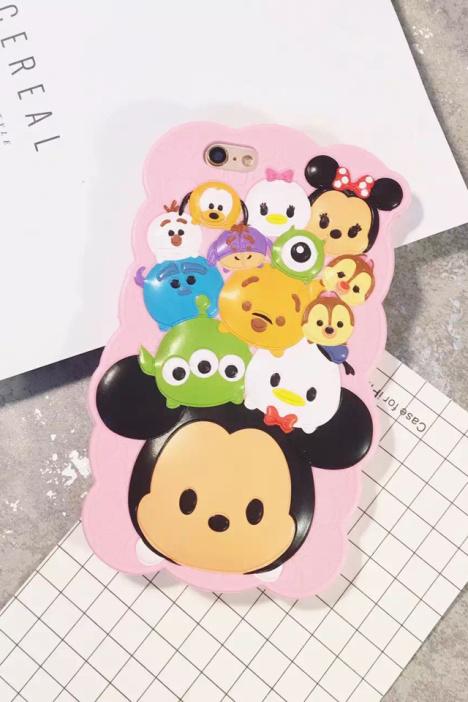 可爱q版卡通米奇米妮iphone6s手机壳苹果6p硅胶