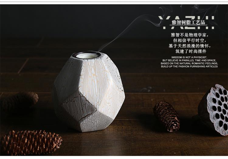 雅智树脂 高档纹路艺术花瓶装饰烛台 欧式工艺品家居装饰品