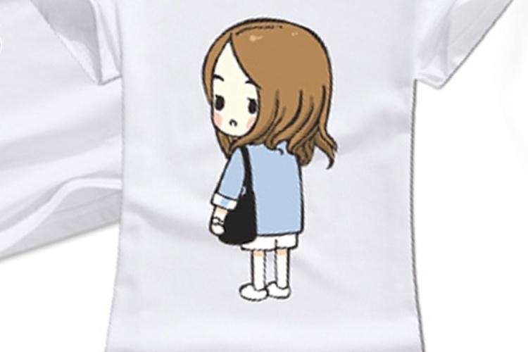 太陽的后裔宋慧喬同款卡通q版人物頭像情侶裝短袖t恤