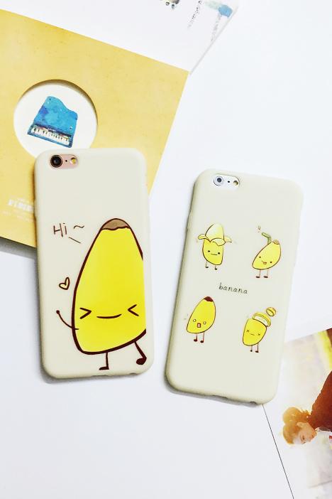超萌可爱香蕉防摔硅胶韩版手机壳