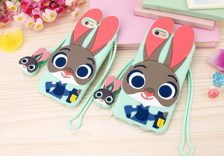 【疯狂动物城朱迪苹果硅胶手机壳iphone5s/6s/6p