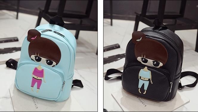 可爱女孩少女双肩包女大童休闲旅游背包韩版女童初中小学生书包皮