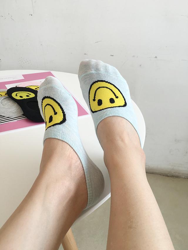 韩国可爱卡通笑脸船袜日系原宿学院风短袜硅胶防滑浅口隐形袜女袜