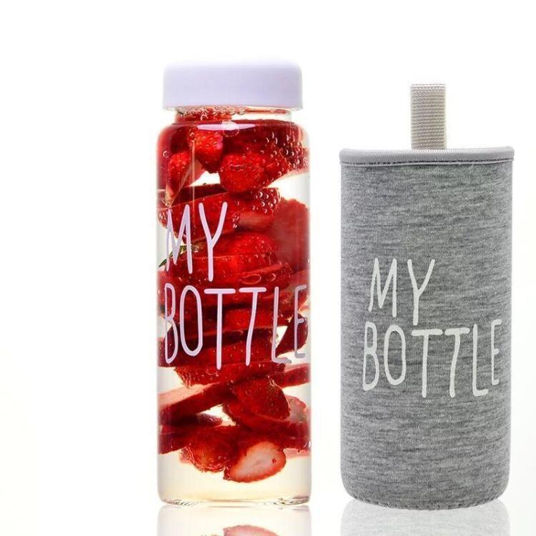 mybottle韩国玻璃杯子学生创意便携带盖透明随手杯