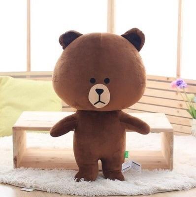 布朗熊可妮兔 公仔布娃娃 毛绒玩具礼品送闺蜜line