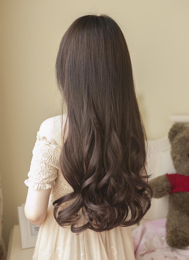 【空气薄刘海大波浪长卷发假发全头套长发假发长发】 (750x1030)