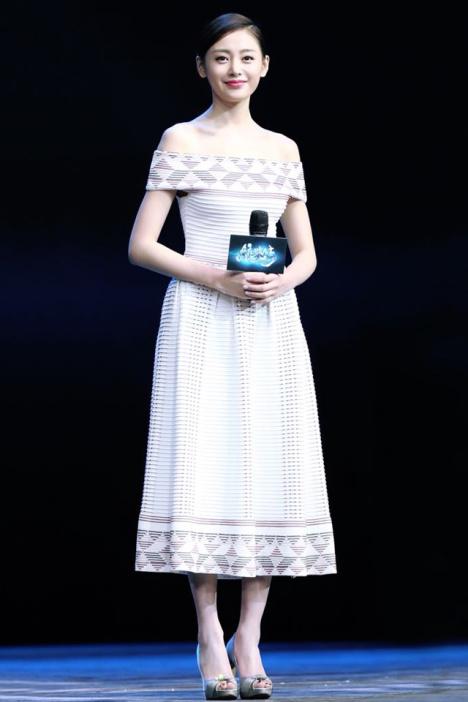 【张天爱明星同款修身针织连衣裙】-衣服-裙子
