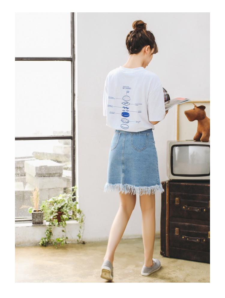 【学院风可爱印花短袖宽松t恤女】-衣服-服饰鞋包