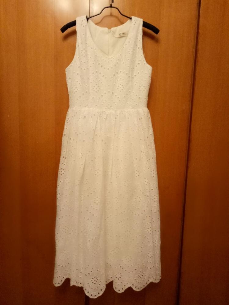 白色森女风连衣裙,本人实体店转让图片